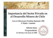 Importancia del Sector Privado en el Desarrollo Minero de ... - Sonami