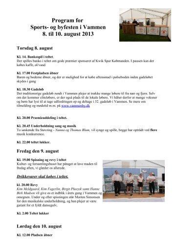 Referat fra Sports- og byfest udvalg den 9 - Vammen
