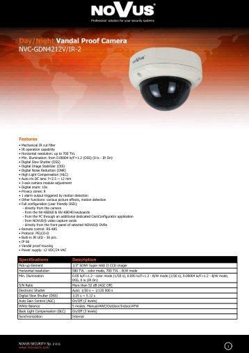 Day/Night Vandal Proof Camera NVC-GDN4212V/IR-2