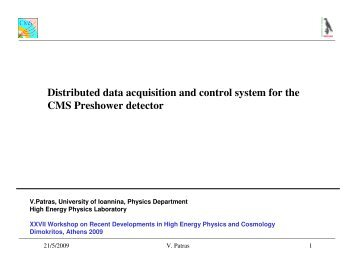 Distributed data acquisition and control system for the CMS ...