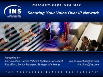 VoIP Security Presentation - VOIP Information