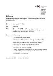 Einladung / Traktandenliste - SDBD Sozialdienste Bezirk Dielsdorf