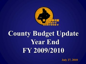 Year End 2009/2010 - Hardin County Government