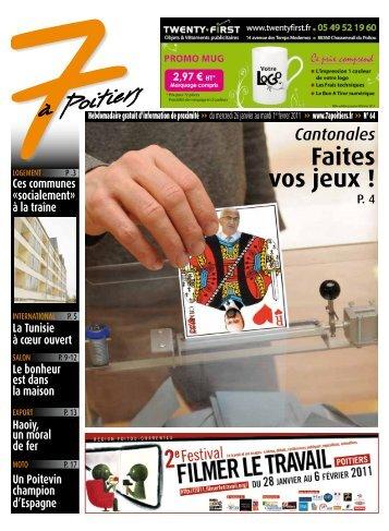 n° 64 voir ce numéro - 7 à Poitiers