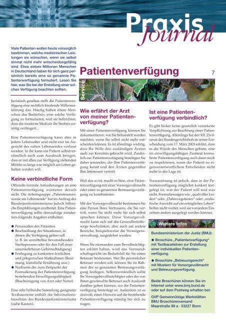 Ausgabe 9 / 2008 - Onkologische Schwerpunktpraxis Darmstadt