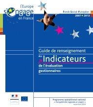 Guide de renseignement des indicateurs de l'évaluation - FSE