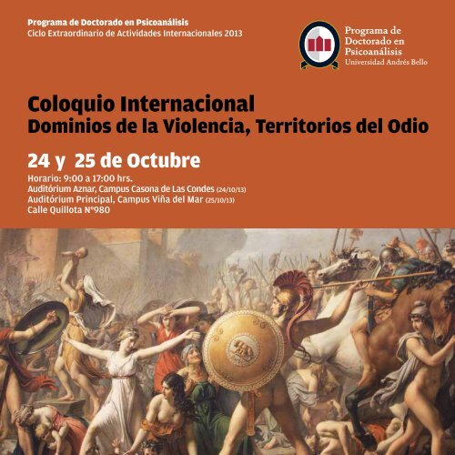 programa de actividades doctorado - Noticias Universidad Andrés ...