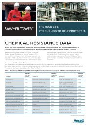 SAWYER-TOWER Chemical Resistance Table - Ansell Protective ...