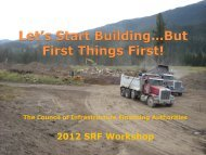Let's Start Building…But First Things First! - Council of Infrastructure ...