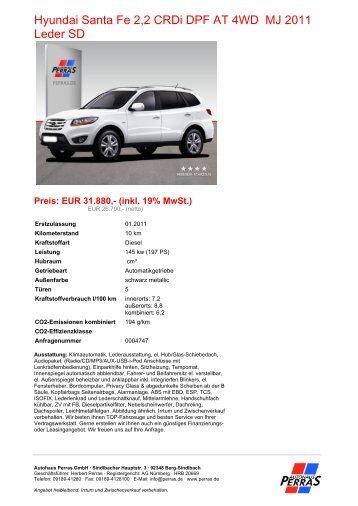 Preis: EUR 31.880,- (inkl. 19% MwSt.) - Autohaus Perras