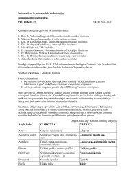 Posėdžio protokolas - Matematikos ir informatikos institutas