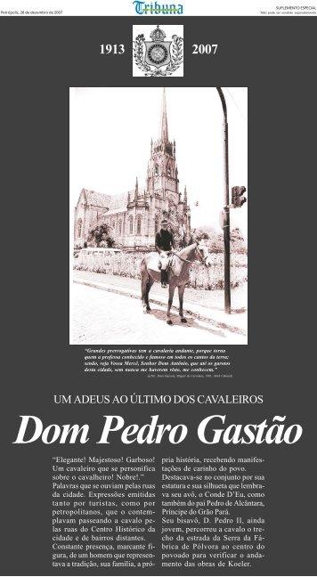 UM ADEUS AO ÚLTIMO DOS CAVALEIROS - Instituto Brasileiro de ...