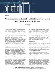 Conversations in Kabul on Military Intervention and Political ...