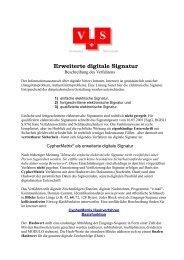 Erweiterte digitale Signatur - Telecypher.net