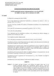 09 99 réglementation dépôts sauvages - Laillé