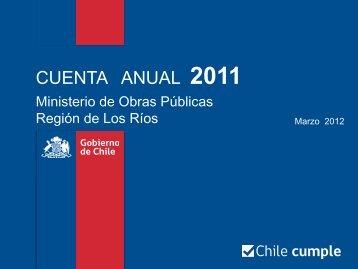 Cuenta Pública Los Ríos - MOP