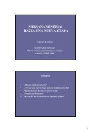 Mediana Mineria - Hacia una Nueva Etapa - Sonami