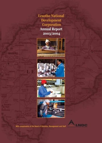 Lesotho National Development Corporation Annual Report 2003/2004