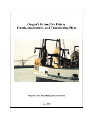 Oregon's Groundfish Fishery Trends, Implications, and Transitioning ...
