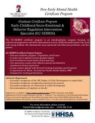 New Early Mental Health Certificate Program Graduate ... - SDSU