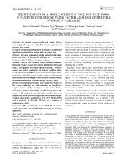 identification of a simple screening tool for dysphagia in patients ...
