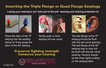 Inserting the Triple Flange or Quad Flange Earplugs
