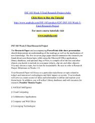 INF 103 Week 5 Final Research Project/Uophelp