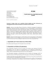 PCDN – PV de la quatrième réunion - Marche-en-Famenne