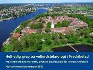 Helhetlig grep på velferdsteknologi i Fredrikstad - Innomed