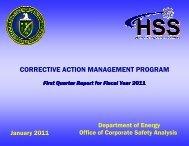 CORRECTIVE ACTION MANAGEMENT PROGRAM