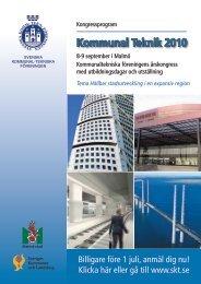 KommunalTeknik 2010 - Svenska Kommunal-Tekniska Föreningen