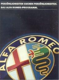 Alfa programm (D), 1983 - GTV6 et 156 GTA