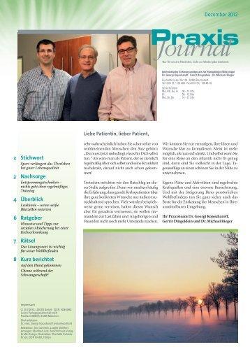 Ausgabe 20 / 2012 - Onkologische Schwerpunktpraxis Darmstadt