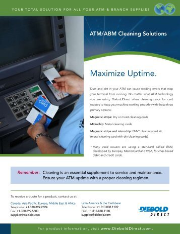 ATM Cleaning Solutions - DieboldDirect
