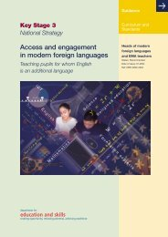 Access and engagement in modern foreign languages - NALDIC