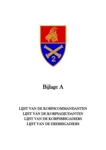 Bijlage A - KorpsCmdt/Adjt/Brig/EreBrig - 2de-artillerie.be