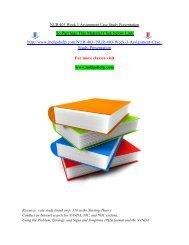 NUR 403 Week 3 Assignment Case Study Presentation / Indigohelp