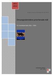 Omsorgsnämndens prioriterade mål 2011-2014 - Bjurholm kommun