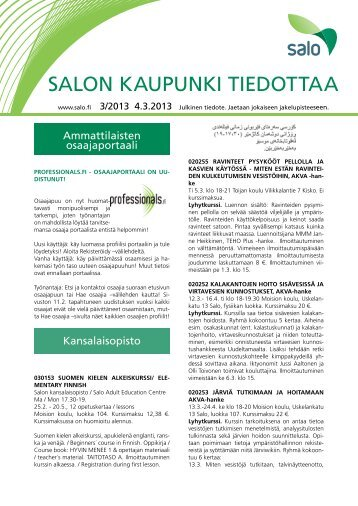3/2013 - Salon kaupunki