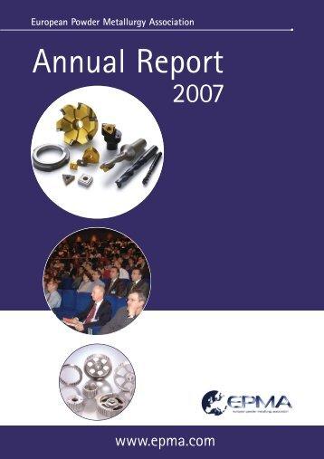 Annual Report 2007 - European Powder Metallurgy Association
