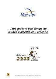 Le vademecum des camps de jeunes à Marche-en-Famenne
