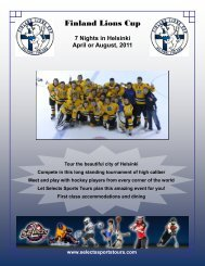 Finland Lions Cup - Selects Hockey - Selects Sports