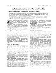 A National Iraqi Survey on Anterior Crossbite