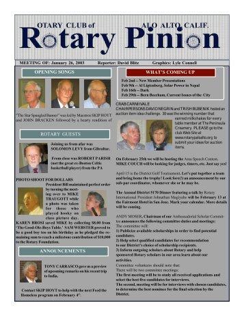E-Pinion -- January 26, 2004 - Palo Alto Rotary