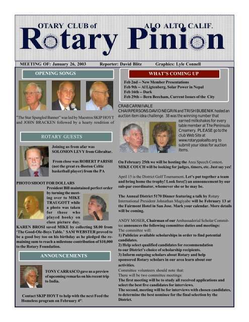 E-Pinion -- January 26, 2004 - Palo Alto Rotary