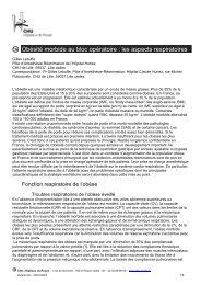 Obésité morbide au bloc opératoire : les aspects ... - CHU de Rouen