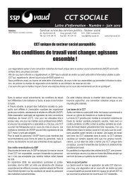 CCT SOCIALE - SSP - Vaud / Syndicat des services publics