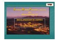 Regulacion de Cierres de Faenas Mineras
