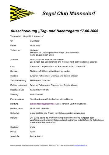 Ausschreibung - Segelclub Männedorf