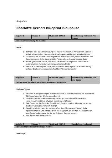 Charlotte kerner blueprint blaupause lezen voor de lijst malvernweather Choice Image